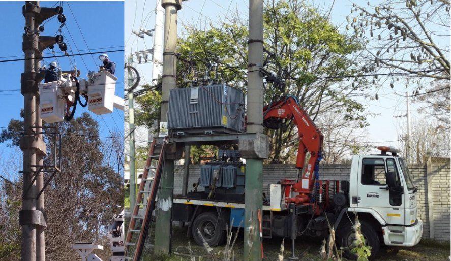 Edelap informó el robo de dos transformadores de luz