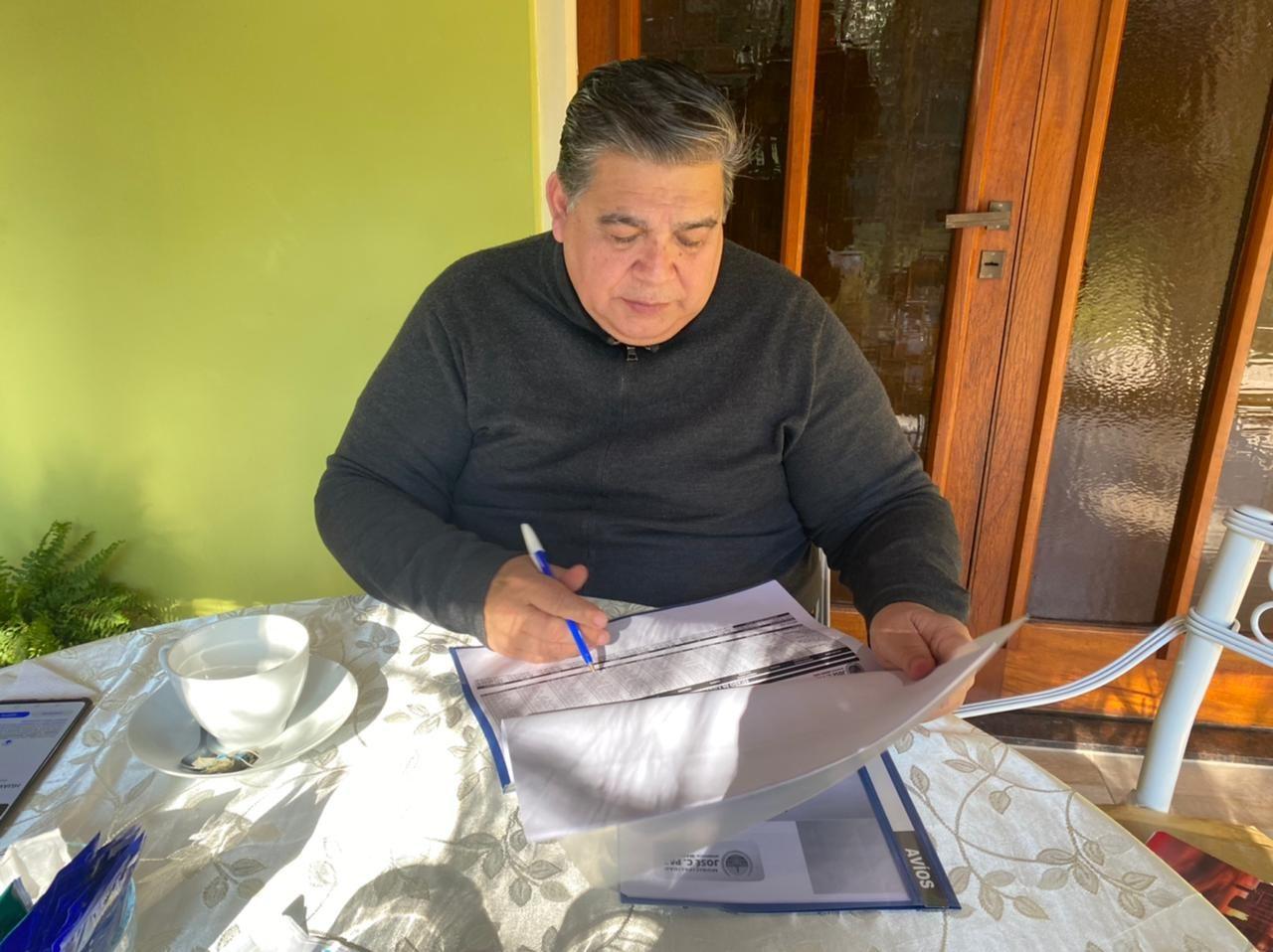 El intendente de José C. Paz, Mario Ishii, en su última aparición pública.