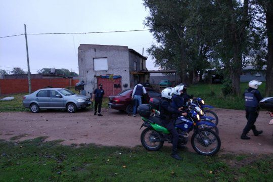 Los allanamientos fueron en el barrio Isaura de Olavarría