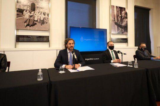 El ministro de Economía, Martín Guzmán, anunció nuevas medidas económicas desde Casa de Gobierno.