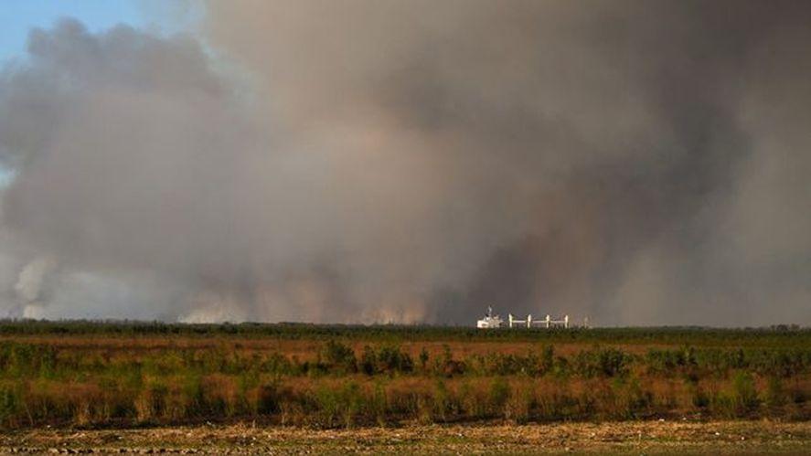 El humo de los incendios en San Nicolás afectó a la población