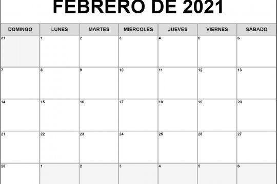 Hoy comienza febrero en un dia lunes de un mes de 28 días. Termina un domingo. Perfecto para quienes tienen TOC de irden y prolijidad