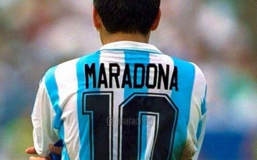 Maradona picante: que la cuarentena no los afecte, la 10 siempre va a ser mía