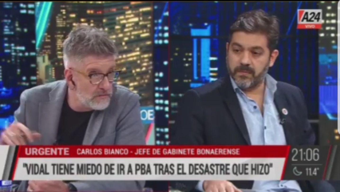 Ojalá Cristina volviera a ser candidata a presidenta, dijo el Jefe de Gabinete, Carlos Bianco, anoche con Luis Novaresio