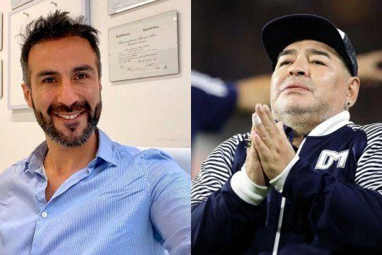 Leopoldo Luque y Diego Armando Maradona