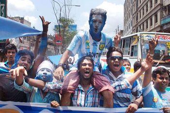 Otra vez Bangladesh fue sede de festejos por Argentina