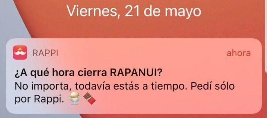 La empresa de pedidos online, Rappi, también hizo su aporte publicitario para potenciar el audio, involuntariamente filtrado, de Cristina Kirchner
