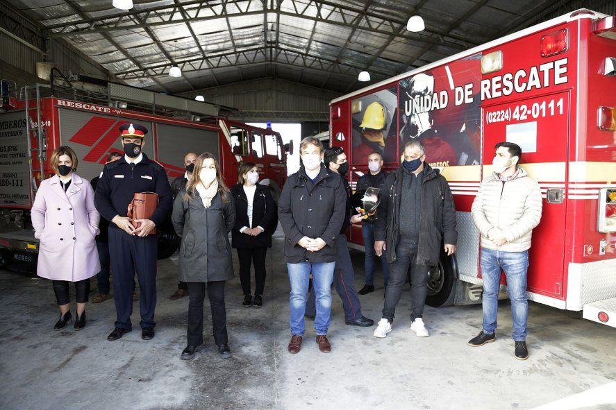Almirante Brown: inauguraron un destacamento de bomberos