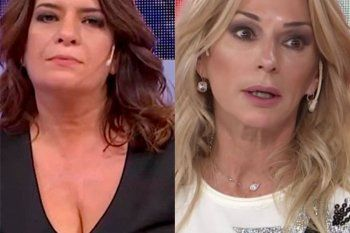 La panelista Andrea Taboada se cruzó con su colega Yanina Latorre.
