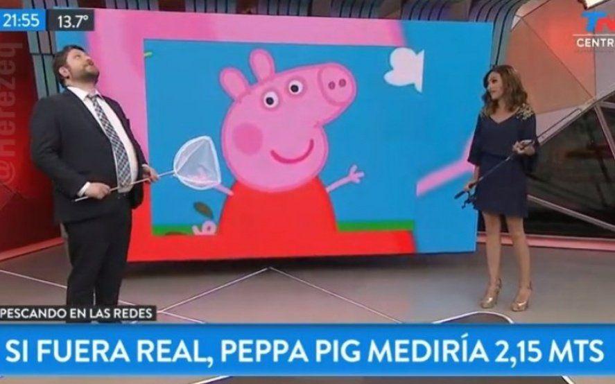 """""""Mediría 2,15 Metros"""": el meme de Wiñazki y """"Peppa Pig"""" en TN que se hizo viral"""