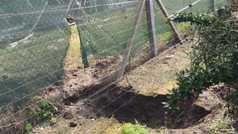 Ladrones cavaron un túnel para eludir alambrado electrificado en un robo en un country de Quilmes
