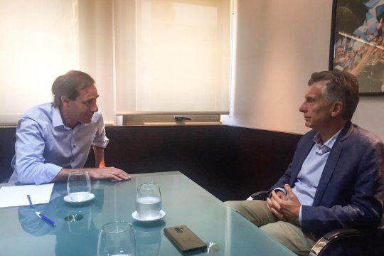 Julio Garro y Mauricio Macri. El Grupo Dorrego quiere que el candidato en la provincia sea un intendente.