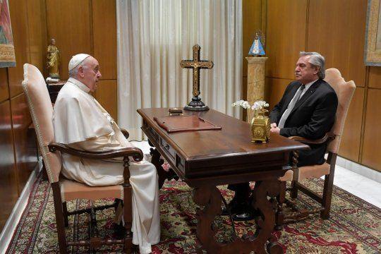 El papa Francisco se reunió con Alberto Fernándezvisibility