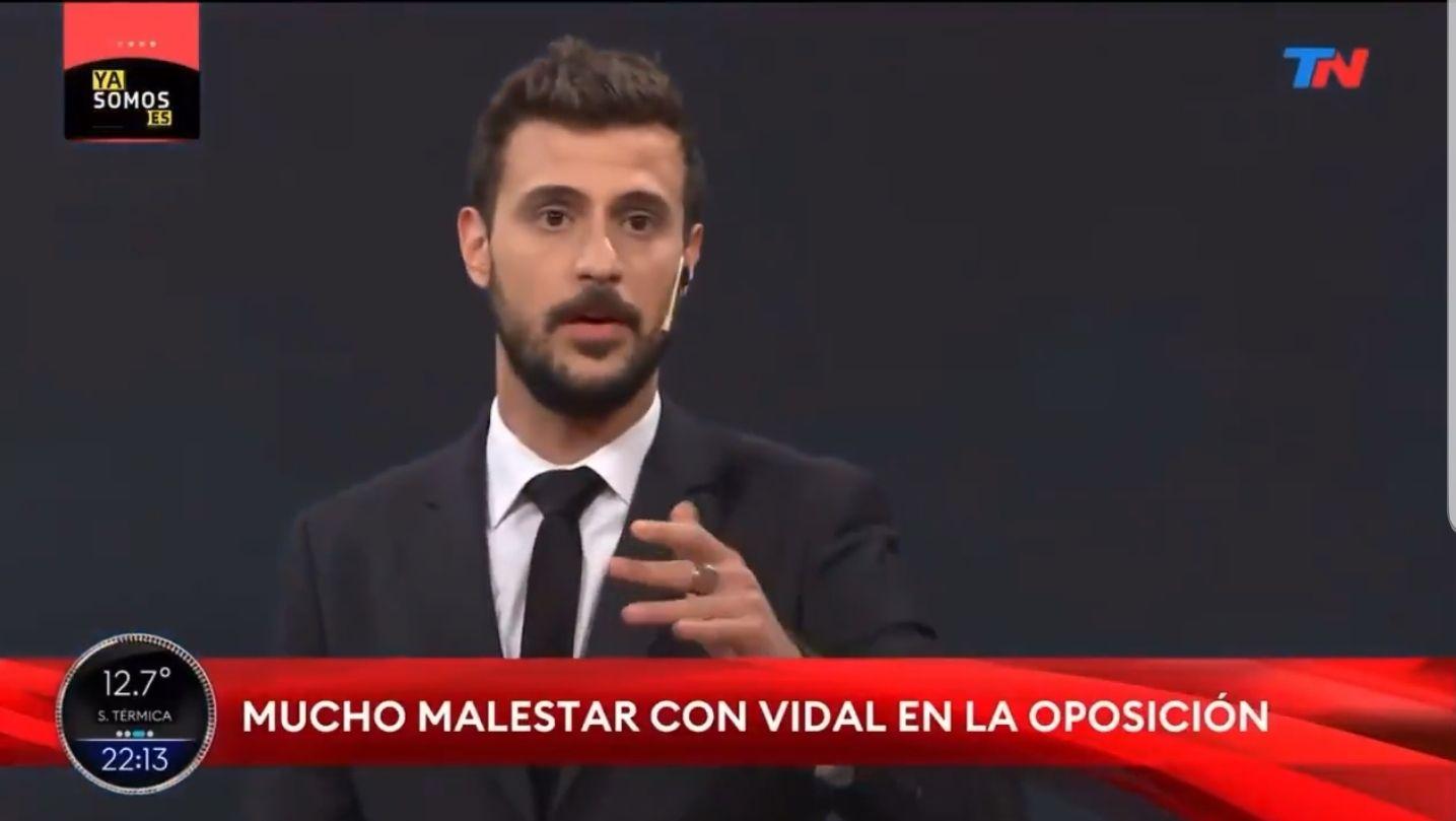 Diego Leuco tiró la bronca contra María Eugenia Vidal porque no será candidata en estas elecciones