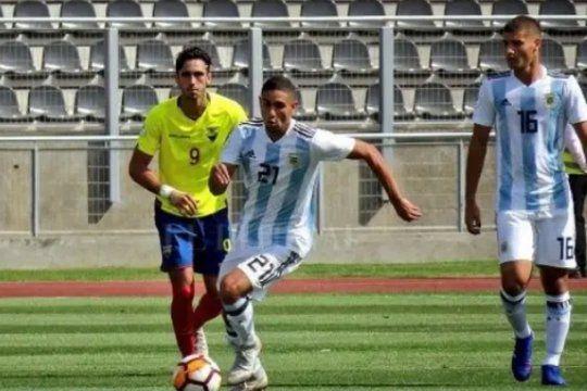 Carlos Manuel Insaurralde en Argentina Vs. Ecuador en la final del Sudamericano Sub 20 2019