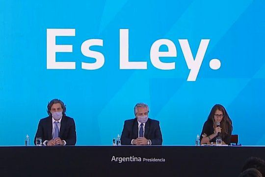 Alberto Fernández presentó la ley del aborto legal: He cumplido mi palabra.