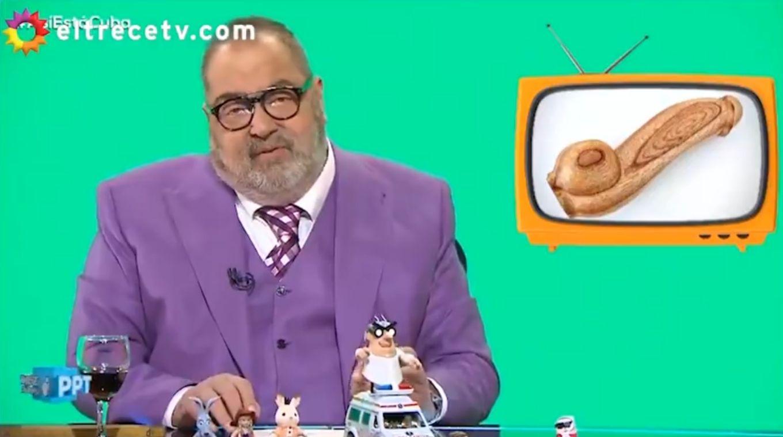 Jorge Lanata no pudo hacer lucir su humor en el tema penes de madera, y volvió a caer en rating frente a Telefé