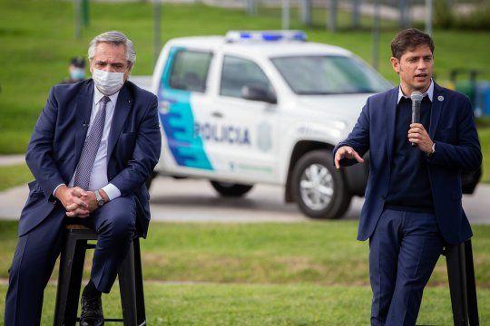 Axel Kicillof y Alberto Fernández realizaron un acto homenaje a Mario Meoni en Merlo.