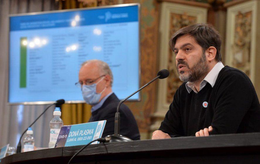 Bianco y Gollan aseguraron que hay menos casos de coronavirus