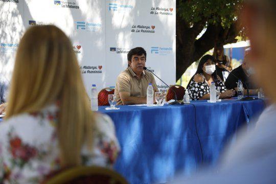 El intendente de La Matanza, Fernando Espinoza, encabezó la reunión de gabinete del municipio en el Polideportivo Alberto Balestrini