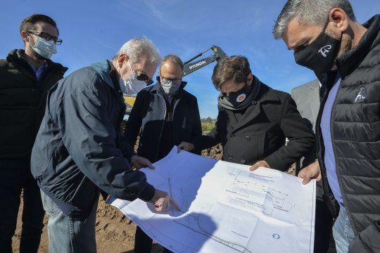 Kicillof supervisó el inicio de las obras en el nuevo camino que unirá Tres de Febrero y Hurlingham.