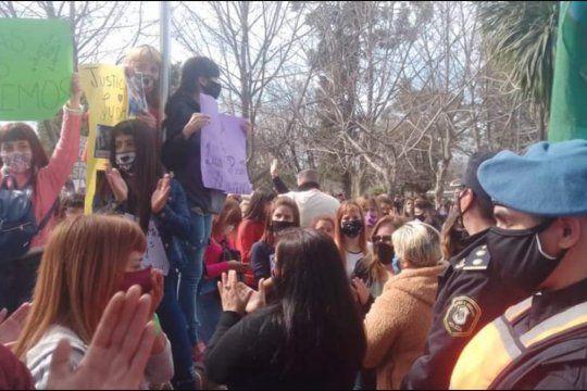 La manifestación en reclamo de justicia por el femicidio de Ludmila Pretti, en Moreno.