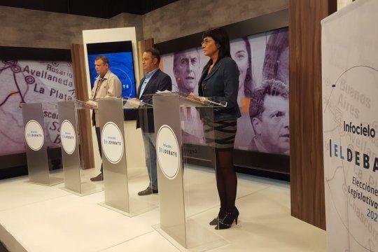 Alejandro Mansilla (Avanza Libertad), Alejando Cellillo (Juntos) y Marisel Cides (Vamos Con Vos) debatieron en Infocielo El Debate.