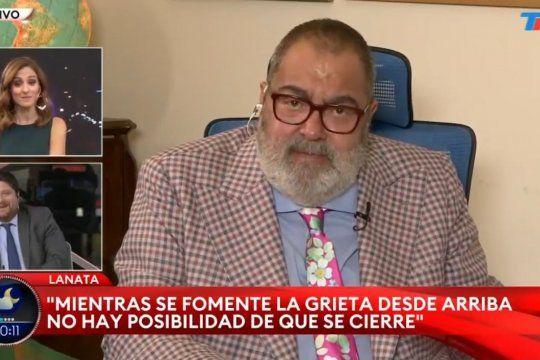 Wiñazki festejando la ocurrencia de Lanata al elogiar el lindo culito de la becaria de Ferraresi