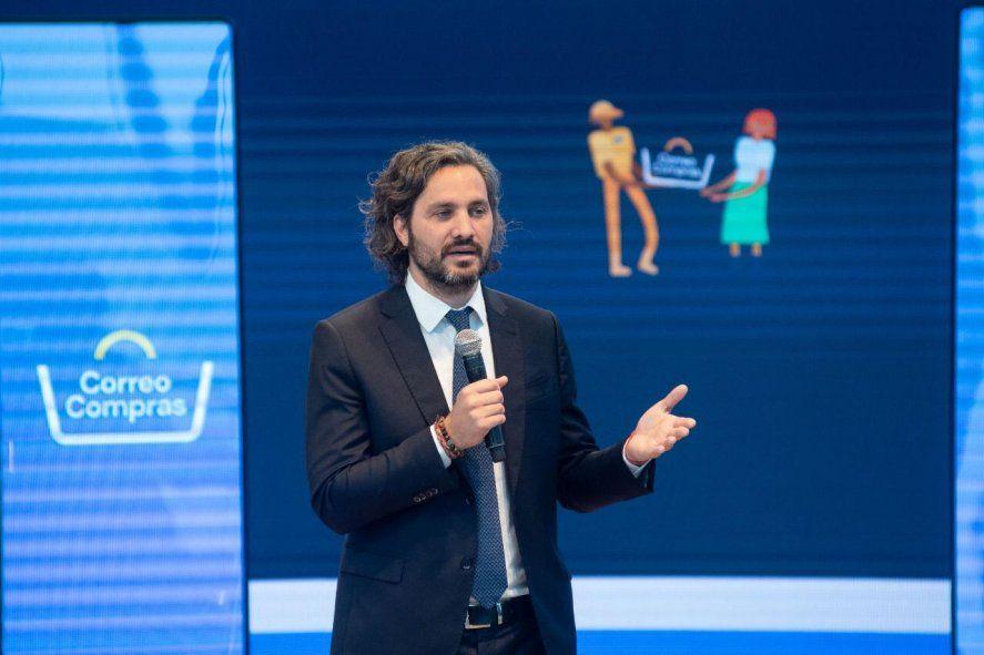 Santiago Cafiero durante la presentación de Correo Compras