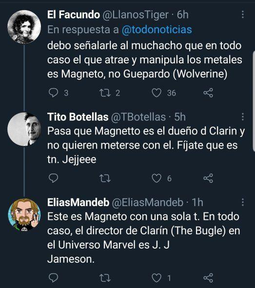 En TN no se animaron a titular con el nombre Magneto de los XMen