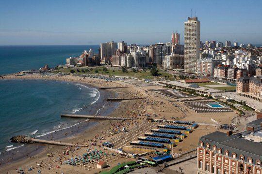 Mar del Plata fue una de las localidades elegidas por los turistas