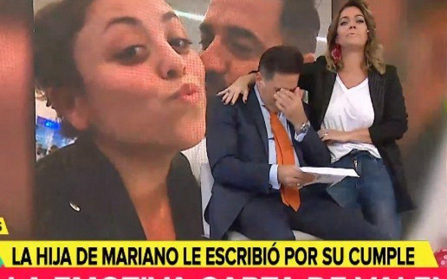 Mariano Iúdica se quebró en vivo al leer una carta de su hija desde España