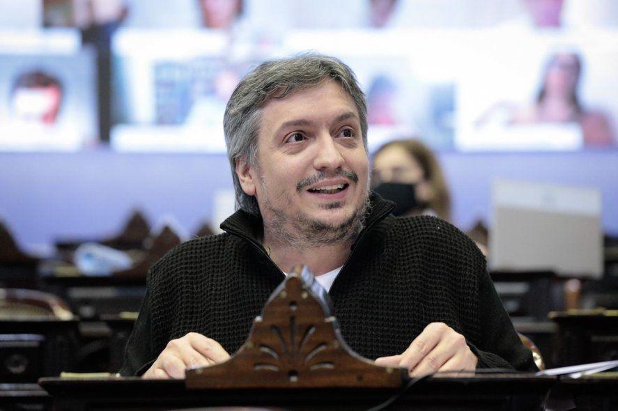 Máximo Kirchner, jefe del bloque oficialista en Diputados