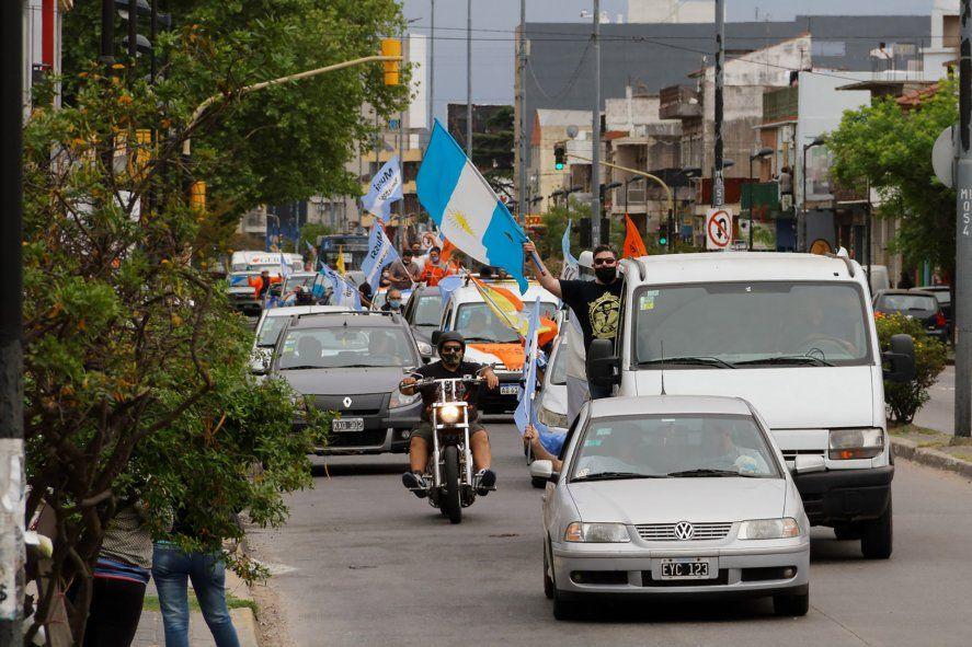 La movilización en las calles de Berazategui