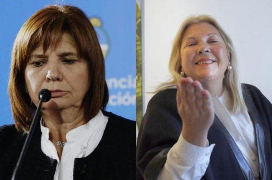 Patricia Bullrich y Elisa Carrió quienes tienen hoy una opinión muy distinta a la esgrimida por el 2003 sobre la causa Correo Argentino. Ninguna resiste archivo.