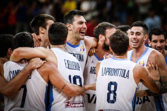 el basquet argentino sigue haciendo historia: derroto a serbia y se metio en las semifinales