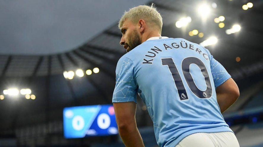 Fin de ciclo: el Kun Agüero se despidió del Manchester City.