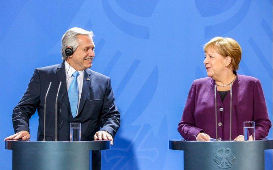 """Junto a Alberto Fernández, Merkel celebró los encuentros con el Fondo Monetario Internacional"""""""
