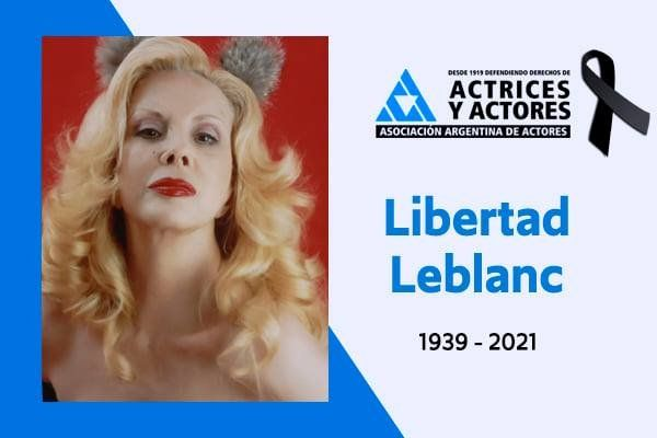 La actriz falleció anoche, a los 83 años