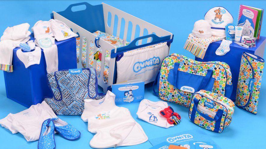 El Plan Qunita implicaba la entrega de un kit con productos para la maternidad, cuyo núcleo era un moisés encastrable.