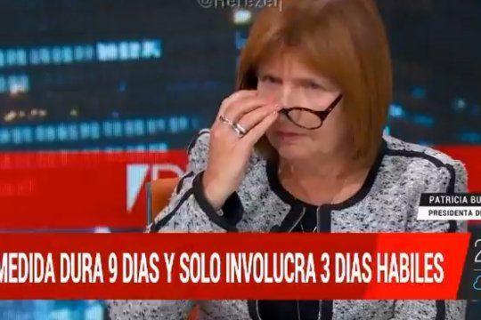 Patricia Bullrich culpó de la actual situación sanitaria al Presidente de la República, y lo acusó por no negociar las vacunas de Pfizer