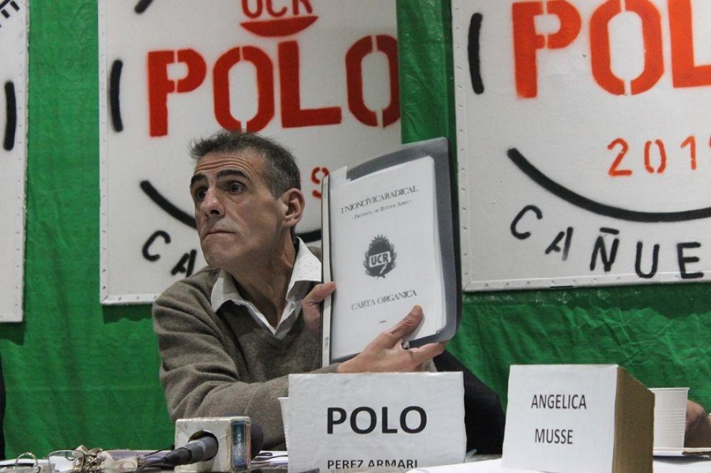 El candidato acusado, Polo Pérez Amari