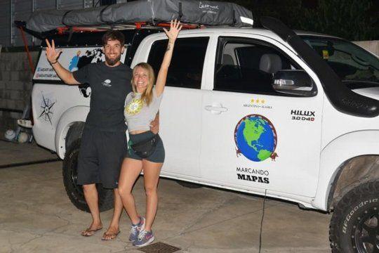 berazategui-alaska en camioneta: una pareja de jovenes muestra el paso a paso de su viaje en las redes