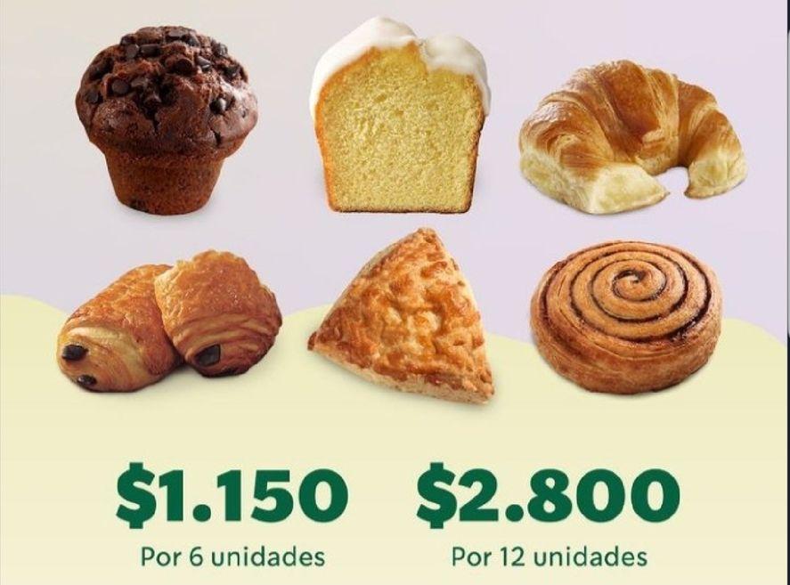 Una cadena de café promociona la docena de facturas a 2800 pesos