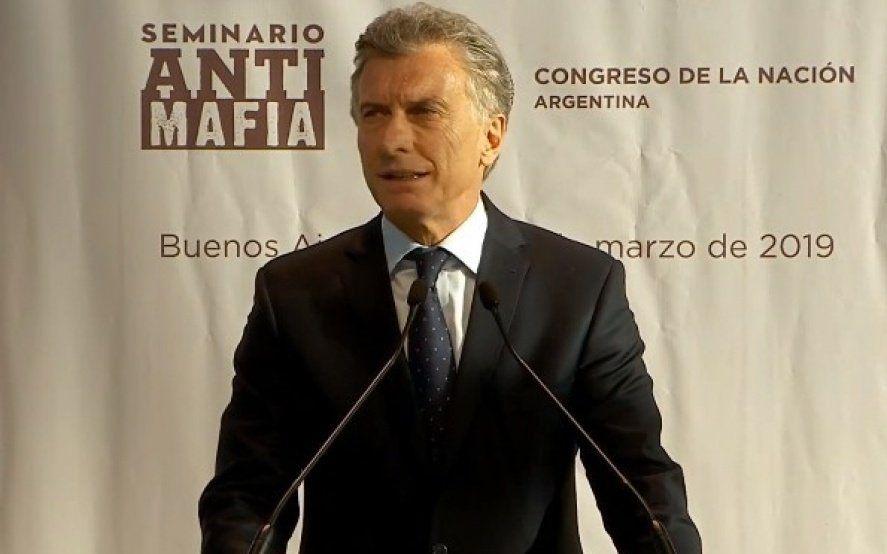 Macri presentó un seminario Antimafia Ítalo-Argentino y en las redes no lo dejaron pasar