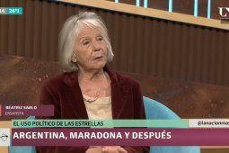 Beatriz Sarlo invalidó las opiniones políticas de Maradona por no tener formación universitaria y la destrozaron en las redes