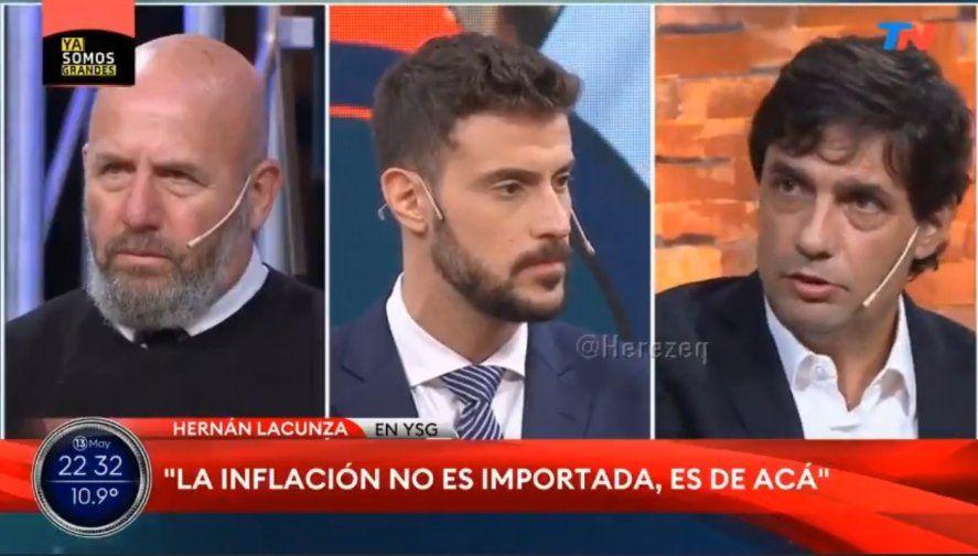 Hernán Lacunza apelando a su recurso favorito