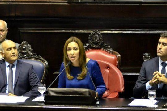?vidal es macri?: las criticas de la oposicion al discurso de la gobernadora