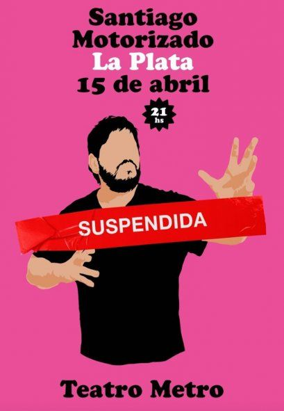 Cancelación masiva de shows: Santi Motorizado ya anunció la baja del show en La Plata