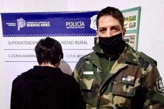 El joven detenido asegura que se le escapó el tiro de la carabina